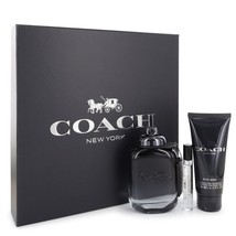 Coach New York 3.4 Oz EDT Spray + Shower Gel 3.4 Oz + EDT Spray 0.25 Oz Gift Set image 1