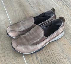 Merrell Women's Sz 7.5 Slip On Loafers Shoes Beige Suede - $19.95