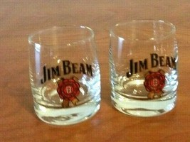 JIM Beam Shot Glasses Unsigned Lot Of 2 Red Seal - $12.86