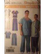 "Pattern Women's & Men's Scrub Tops & Pants chest sizes 52""-62"" Uncut - $6.99"