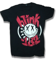 BLINK 182 - SMILE FACE BAND GRAPHIC, CONCERT T-SHIRT / SIZE SMALL, S - $9.20