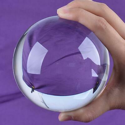 Ship From USA LS Clear Quartz Crystal Ball 100mm Sphere ORB Photo Props Free Sta