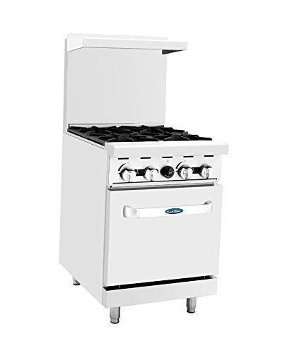 Atosa ATO-4B 24'' Gas Range. (4) Open Burners with One 20'' Wide Oven - $1,272.00