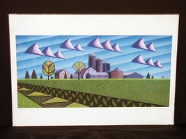 Silver Farm by Wisconsin Artist Bruce Booden Signed Print - $22.50