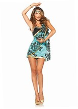 Leg Avenue Women's 2 Piece Sari Siren Costume, Teal, Large - $20.36