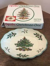 "Spode Christmas Tree  Dish 5.5"" In Box EUC Oval Fluted Small - $15.00"