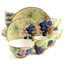 Gibson Home Fruitful Harvest Grapes 16pc Dinnerware Set - $64.56