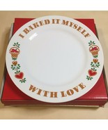"Avon I Baked It Myself With Love Plate 1982 White Ceramic 9"" Holiday Food Gift - £5.80 GBP"