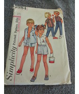 Simplicity Vintage 5984Child Size 6 Shirt, And Pants In Two Lengths - $6.99