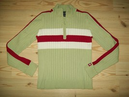 Children's Place Girls Sweater Size L 10 12 Green Rib Knit Casual Autumn... - $19.79