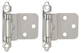 "Hardware House Two Pack 3/8"" Inset Cabinet Hinge, Satin Nickel New Pair - $1.97"