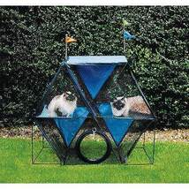 "Kittywalk Ferris Wheel Outdoor Cat Enclosure Green 44"" x 24"" x 40"" - £175.97 GBP"