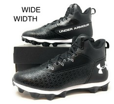 Under Armour UA Hammer Mid RM Mens Football Cleats Wide Width Black 3022... - $44.99