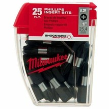 "Milwaukee 48-32-4604 Shockwave Impact Duty #2 Phillips Insert Bits 1"" 25 Pack - $11.88"