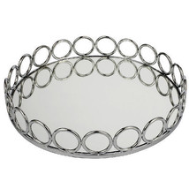 """Round Mirrored Gallery Tray D14""""x2"""" - 40265 - $32.66"""