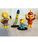 4 Pc Simpsons PVC Figures Cake Toppers. Lisa Maggie Marge Milhouse. Up T... - $12.59