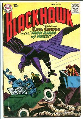 BLACKHAWK COMICS #142 1959-KING CONDOR-DC COMICS! VG
