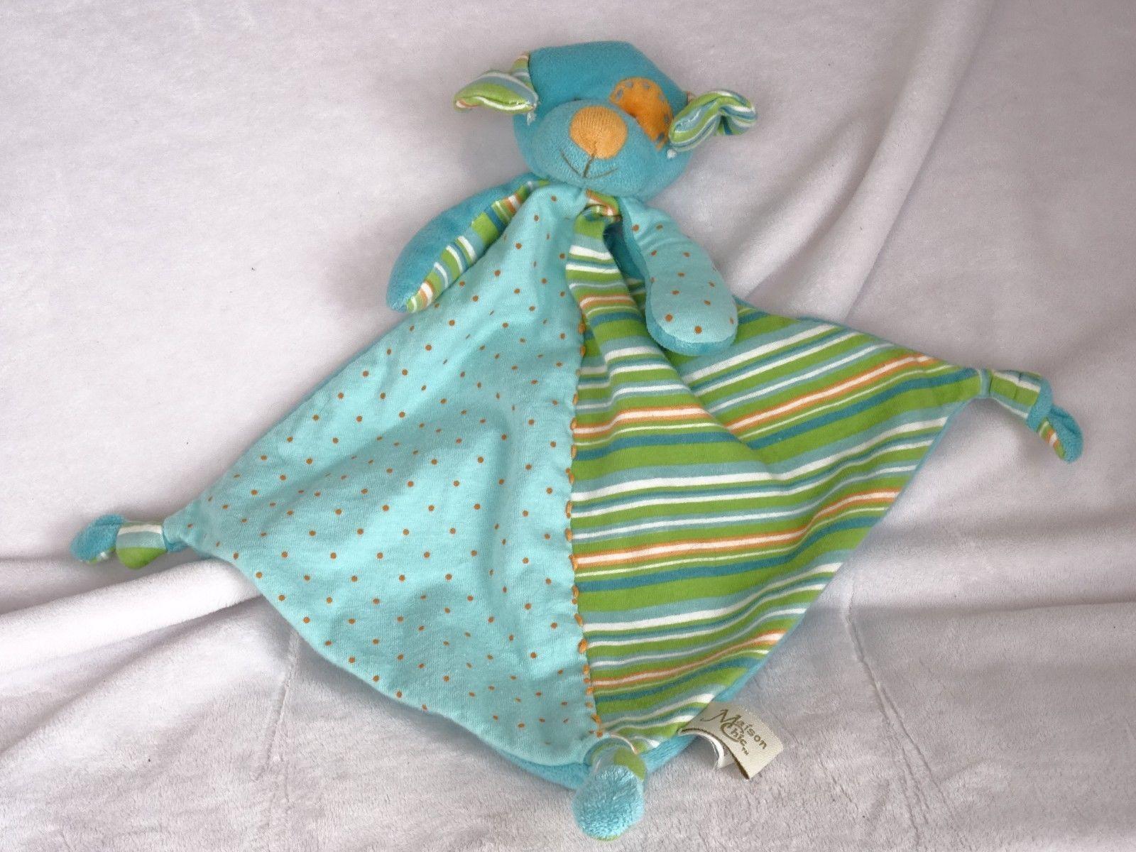 Baby Maison Chic Pink Bunny Rabbit Knot Lovey Baby Security Blanket Polka Dot Nursery Bedding