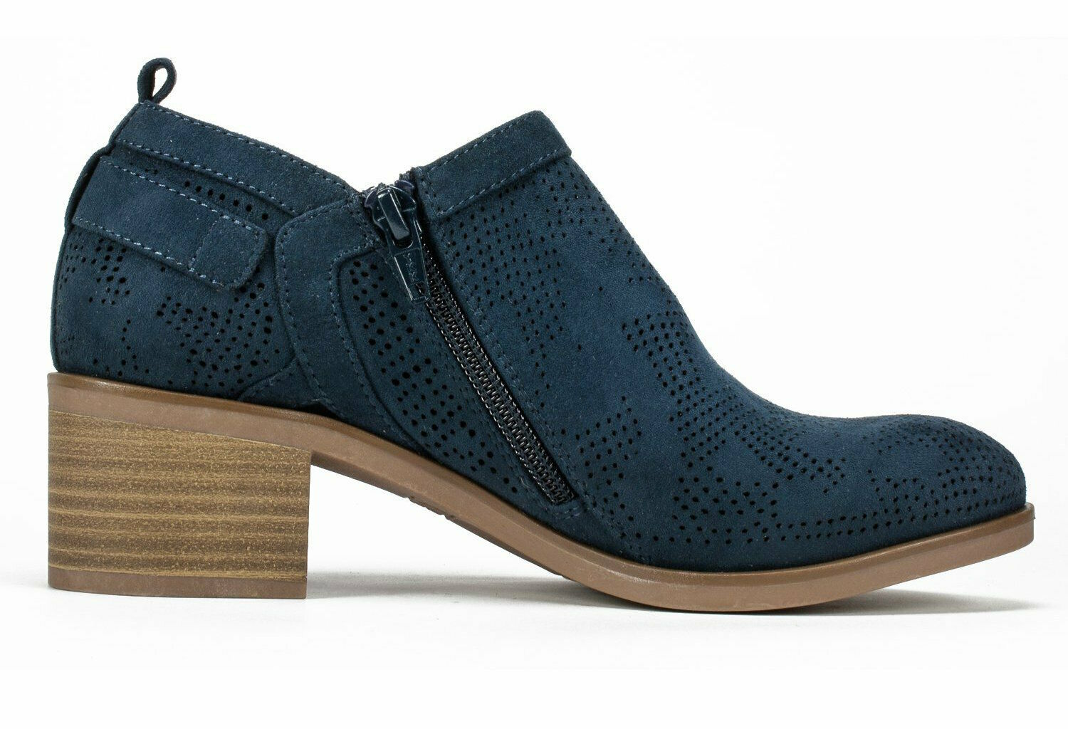 Womens White Mountain Avenue Bootie - Navy/Suedette Size 8 image 4
