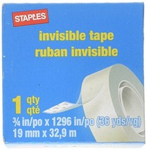 Staples 52477-P12 Invisible Tape 12 Pack Each 36 yards - £13.13 GBP