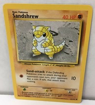 Sandshrew 62/102 Pokemon Card Original Base Set NM Great Condition - $2.16