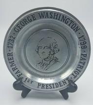 "Wilton Columbia , PA  Pewter Plate George Washington 1972 6"" D - $14.95"