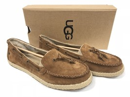 Ugg Australia Channtal Women's Chestnut Loafers Shoes 1092231 Suede Knotted - $59.99