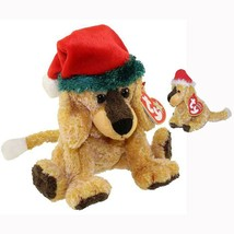 JInglepup the Holiday Dog Ty Beanie Baby and Jingle Beanie 2pc Set MWMT ... - $15.79