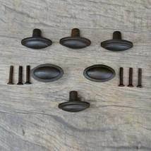 Vintage Look Victorian Cast Iron Cabinet Drawer Door Knobs Handles Pull ... - $27.72