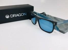 New DRAGON DR515S 002 Matte Black & Blue BLINDSIDE Sunglasses with Mirro... - $72.22