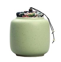 [Green] Ceramic Tea Canister Coffee Tins Spice Jar Exquisite Tea Caddy - £16.80 GBP