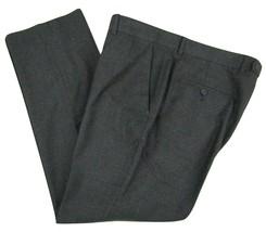 Perry Ellis Slim Fit Flat Front Charcoal Slacks Men's W36 X L30 Polyeste... - $26.68