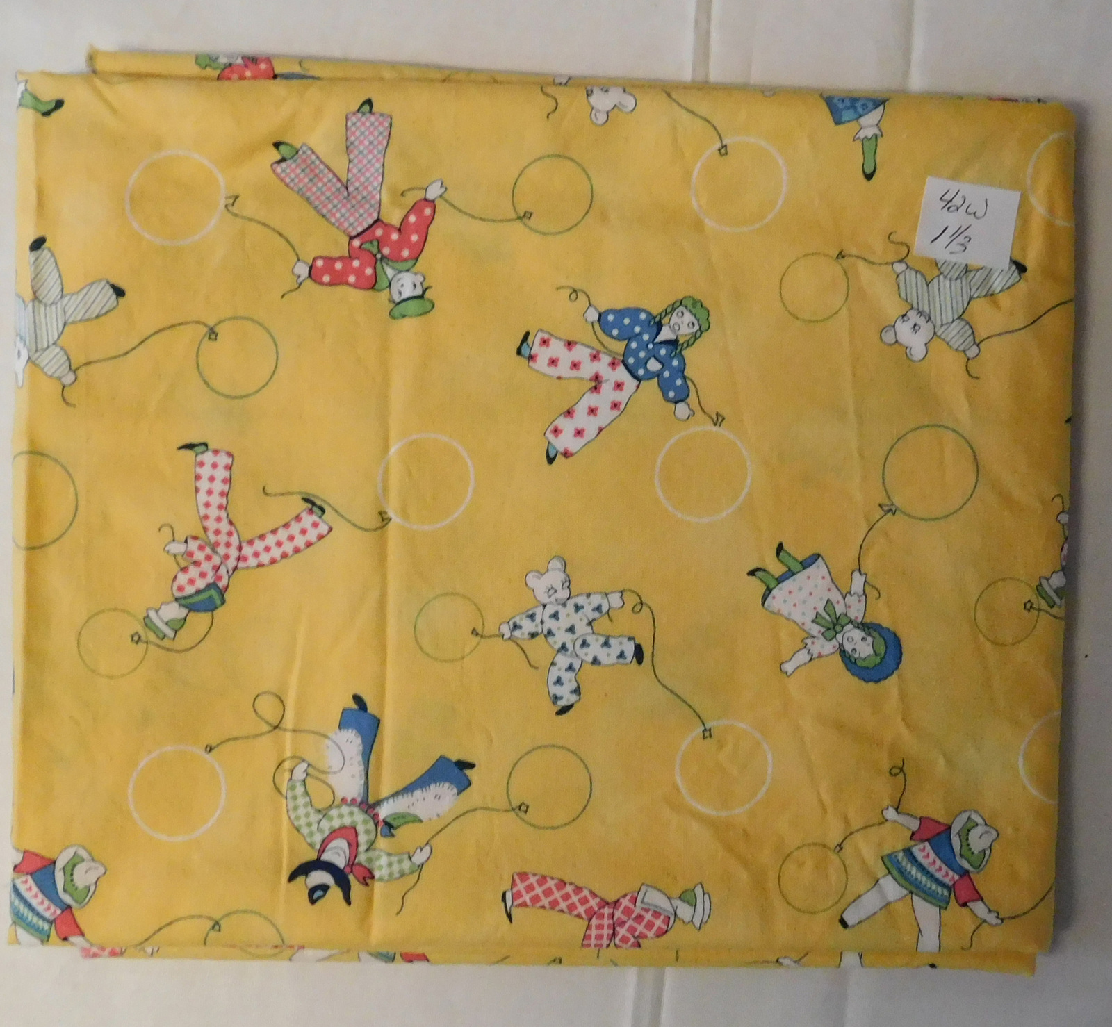 Primary image for Fabric Juvenile Cotton Print, Michael Miller Crib Characters, 42 Wide 1 1/3 Yard