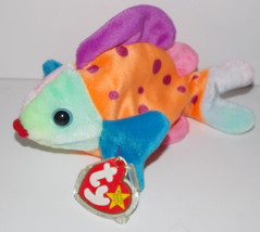 Ty Beanie Baby Lips Plush 8in Fish Stuffed Animal Retired with Tag 1999 - $9.99