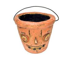 Jack-O-Lantern Paper Pulp Halloween Candy Bucket - $19.31