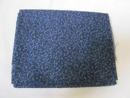 Deep Navy & Blue Vine Leaf Quilting Fabric JoAnn Fabrics 1.5 Yards - $14.90