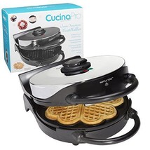 Waffle Maker Non-Stick 5-Heart Waffler Iron Griddle Adjustable Browning ... - €47,71 EUR