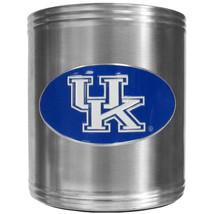 university of kentucky wildcats logo ncaa college emblem color steel can cooler - $18.04