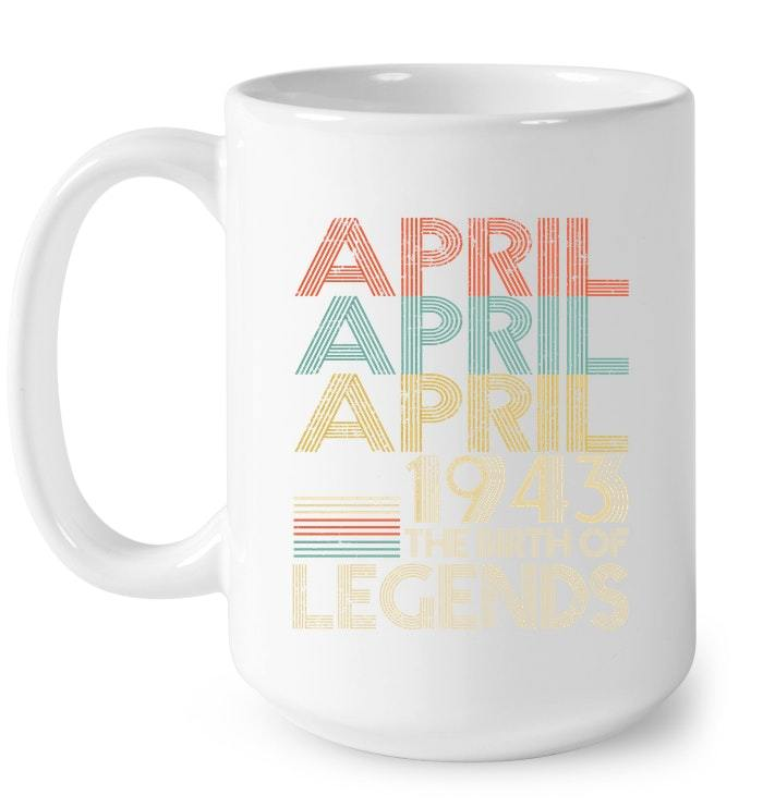 APRIL Retro Classic Vintage 1943 Awesome 75 Years Old Being Gift Coffee Mug