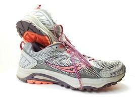 Saucony Excursion TR 9 Grid Athletic Shoes Women's Sz 8.5m Gray Coral (sb2) - £20.54 GBP