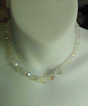 Crystal Graduated Glass Bead Choker Necklace  - $44.55