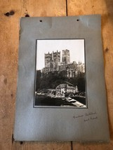 ANTIQUE/VINTAGE PHOTO OF THE WEST FRONT AT DURHAM CATHEDRAL (ENGLAND) A4... - $6.36