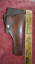 Vintage / Antique~735~ Leather & Brass Gun Holster  > Antique Pistol~bx30 - $37.39