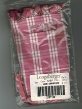 Longaberger Small Tour Liner ~ Pink Plaid Fabric - $4.90