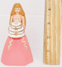 "Barbie Pink Dress Birthday Cake Toy Figure 4.5"" Mcdonalds Mattel 1999 - No Light - $4.88"