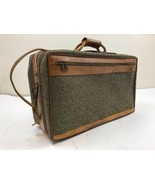 """Vintage Hartmann Tweed Suitcase 20"""" Bag Luggage With Leather Trim Carry On - $45.00"""