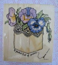 A Pocket Full of Posies Rubber Stamp Sandi Gore Evans 1999 Uptown Rubber... - $5.99