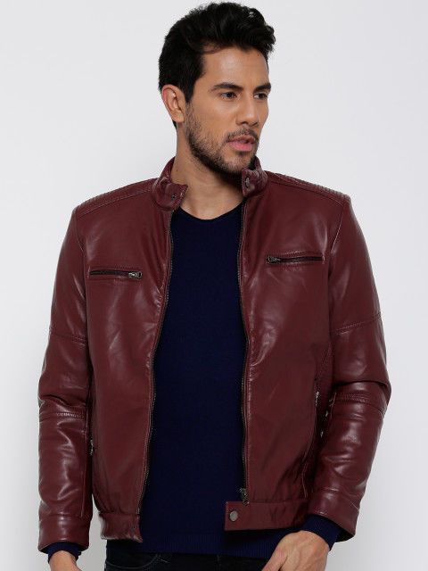 New Men's Genuine Lambskin Leather Jacket  Slim fit Biker Motorcycle jacket-G33