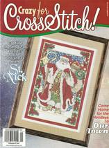 Crazy For Cross Stitch Magazine #56 Dec/Jan 2000 Christmas Holiday Santa... - $3.47