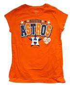 Houston Astros Filles V-Neck T-Shirt, Orange, 14/16 - $11.83